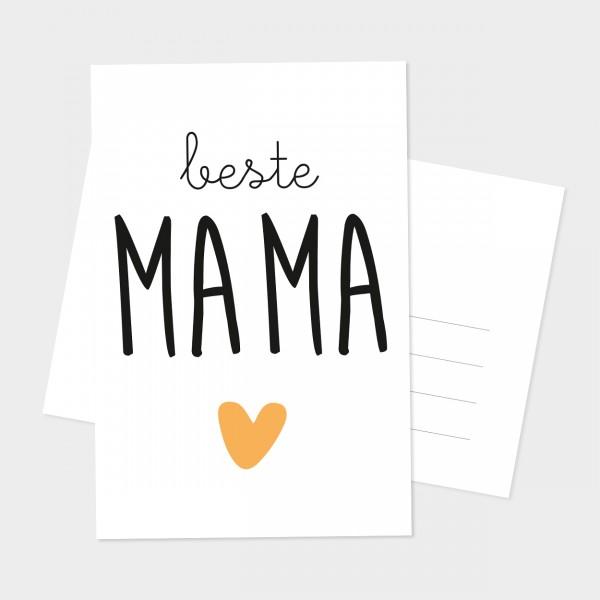 """Postkarte """"BESTE MAMA"""""""