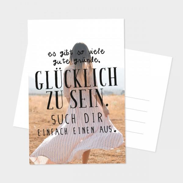 """Postkarte """"GLÜCKLICH ZU SEIN"""""""