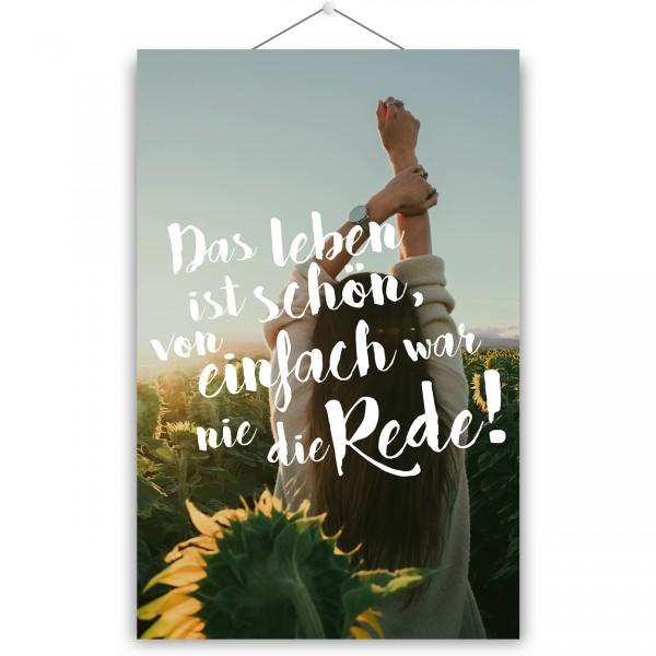 """Poster """"DAS LEBEN"""""""