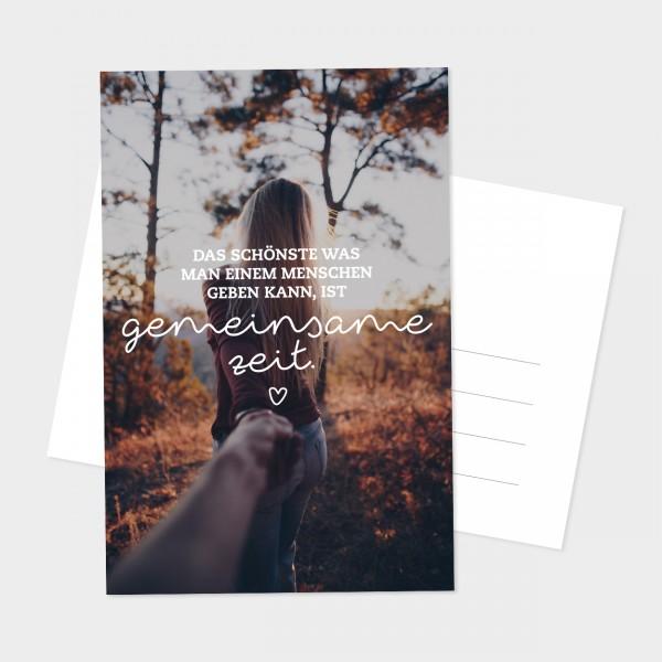 """Postkarte """"GEMEINSAME ZEIT"""""""
