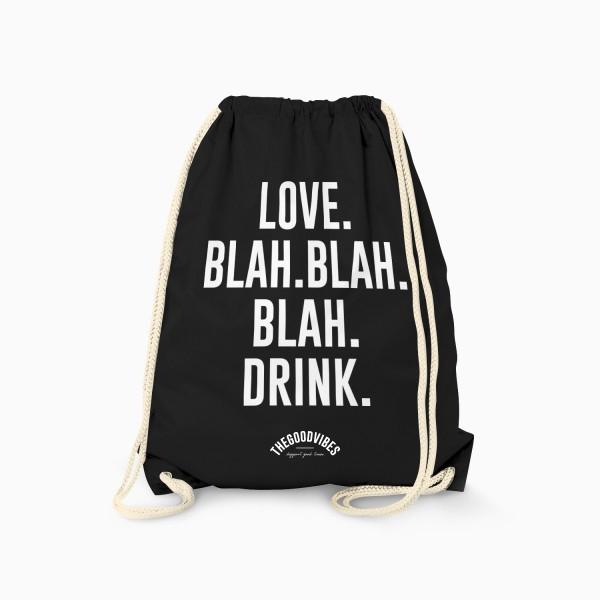 Turnbeutel LOVE BLAH BLAH BLAH