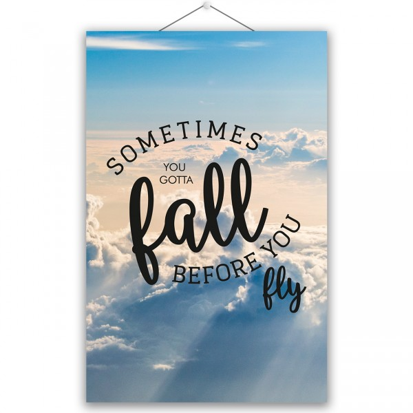 "Poster ""SOMETIMES FALL"""